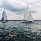 Sail summer.Sail-wave. Stock Photo