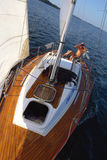 Sail summer.Steering. Royalty Free Stock Images