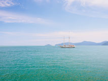 Sail to the sea. Under blue sky Royalty Free Stock Photography