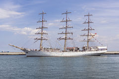 Sail training ship Royalty Free Stock Image