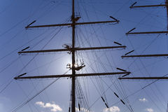 Sail training ship MIR mast Royalty Free Stock Photography