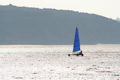 Sail wagon. On the French coast Royalty Free Stock Images