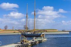 Sail wooden boat Royalty Free Stock Image