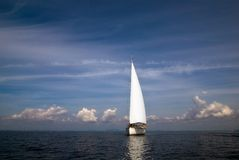 Sail yacht Stock Photography