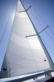 Sail yacht on the background of blue sky Royalty Free Stock Photography