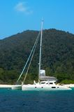 Sail yacht on Blue sea Royalty Free Stock Image