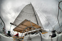 Sail yacht Stock Image