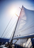 Sail of the Yacht Stock Image