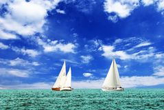Sail yachts Stock Photos