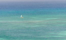 Sail yachts in a blue caribbean sea Royalty Free Stock Photography