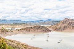 Sail yachts on the Gariep Dam Stock Photos
