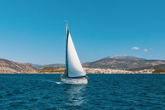 Sail yachts in the Sea. Sport. Royalty Free Stock Photo