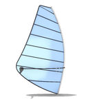 Sailboard on a white Stock Photo