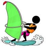 Sailboarding illustrazione vettoriale