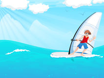 Sailboarding Royalty Free Stock Photo
