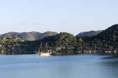 Sailboat at Üçağız Stock Photo