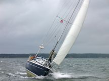 sailboat αγώνα χειμώνας στοκ φωτογραφίες