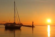 sailboat αναχώρησης steveston ανατολή Στοκ φωτογραφία με δικαίωμα ελεύθερης χρήσης