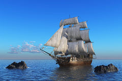sailboat θάλασσα διανυσματική απεικόνιση