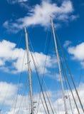 Sailboat ιστοί Στοκ εικόνες με δικαίωμα ελεύθερης χρήσης