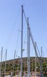Sailboat ιστοί στοκ εικόνες