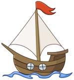 Sailboat κινούμενα σχέδια απεικόνιση αποθεμάτων