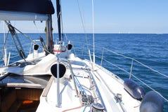 Sailboat λεπτομερή πλοίο κατάστρωμα και πανιά έννοιας μερών ιστιοπλοϊκά Στοκ εικόνες με δικαίωμα ελεύθερης χρήσης