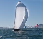 Sailboat με τα spinnakers στο φλυτζάνι της Rolex Στοκ φωτογραφία με δικαίωμα ελεύθερης χρήσης