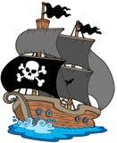 sailboat πειρατών διανυσματική απεικόνιση