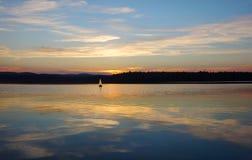 Sailboat στα σύννεφα Στοκ εικόνες με δικαίωμα ελεύθερης χρήσης