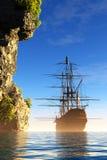 Sailboat στη δεξαμενή χώνευσης Στοκ Φωτογραφίες