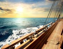 Sailboat στη θάλασσα Στοκ Εικόνες