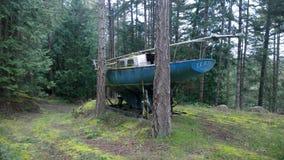 Sailboat στο δάσος Στοκ Εικόνα