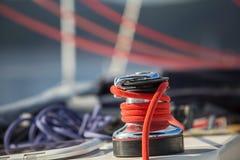 sailboat σχοινιών λεπτομέρειας γιοτ βαρούλκων ιστιοπλοϊκό Στοκ Εικόνες