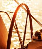 Sailboat τιμόνι Στοκ Φωτογραφίες