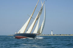 sailboat φάρων Στοκ Εικόνα