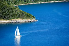 Sailboat. On adriatic sea - Croatia, Istria royalty free stock photo