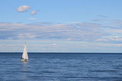 Sailboat. Sailing on the adriatic sea, croatia Stock Photos
