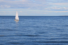Sailboat. Yacht sailing on the adriatic sea, croatia Royalty Free Stock Image