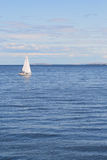 Sailboat. Yacht sailing on the adriatic sea Royalty Free Stock Photo