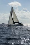 Sailboat. A sailboat in the Caribbean stock images
