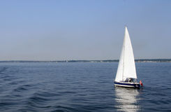 Sailboat. Beautiful sailboat in Baltic sea Stock Image