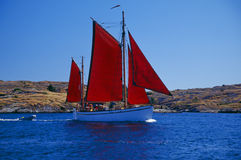 Sailboat. Sailing in the archipelago Stock Image