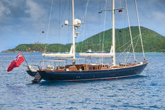 Sailboat. Large luxury sailboat in the caribbean Royalty Free Stock Photo