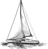 Sailboat stock illustration