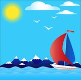 Sailboat Fotografia de Stock Royalty Free
