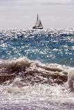 Sailboat. A sailboat in the tyrrhenian sea Stock Photos
