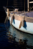 Sailboat. A detail of the front of a sailboat on the lake Stock Image