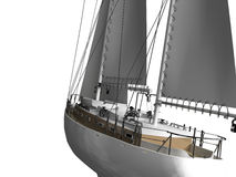 Sailboat. The yacht image on a white background Royalty Free Stock Images
