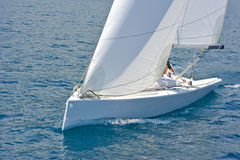 Sailboat in action Royalty Free Stock Photo